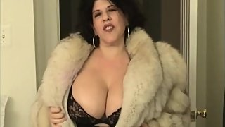 fur coat try on