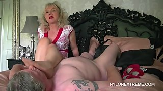 mature milf milks man
