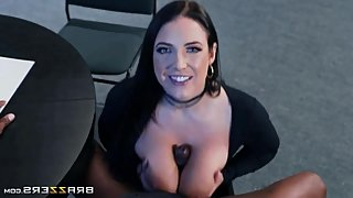 Angela White Brazzers POV BlowJob & TitFuck Compilation