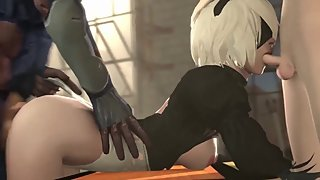 CARTOON PORN NIER AUTOMATA COMPILATION 5
