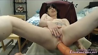Hot babe riding big cock