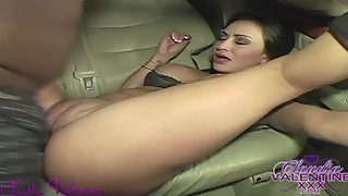 Claudia Valentine is Catching a Ride in the Dark Night for Random Sex