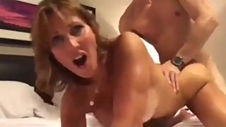 Taboo! Stepsonn cums inside his crazy stepmom on vacation