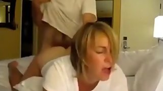 Crazy mature wife gets rough fucked by her new boss