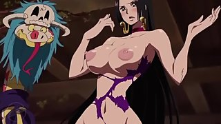 ONE PIECE edited ecchi moment from anime Boa Hancock clothes dissolves nude