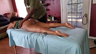 Big Booty MILF gets fuck hard from BBC massage therapist and sloppy head