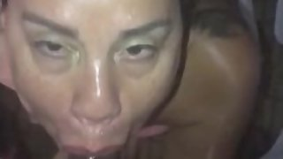 HOT LATINA MILF SUCKING THE SOUL OFF MY BBC