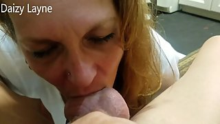 Friends Hot Mom Swallowing & Licking my Balls!