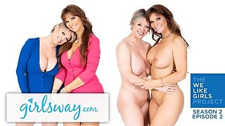 GIRLSWAY Real Life Lesbian MILF Couple Dee & Syren- We Like Girls