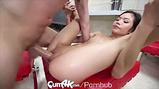 Deep Asian Anal Creampie