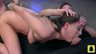 Brunette deep throat banged at training 720hd