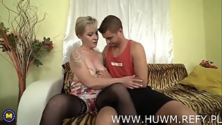 Horny Granny fucks young boy from huwm.refy.pl