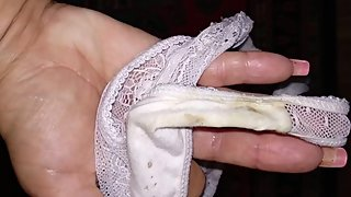 Stepmom shows me her very dirty panties after working day