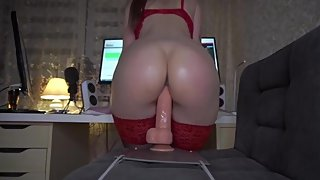 Big booty TEEN RIDES 12inch Toy