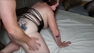 Pregnant Cheating wife gets Creampie from next door neighbor