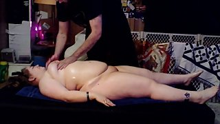 oiled body massage