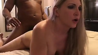 Naughty wife gets amazing creampie from her first BBC