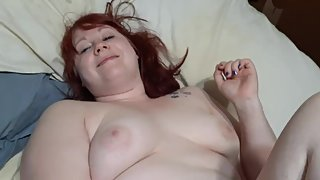 RedHead BBW anal pl with BBC Dildo Finished off by xtension Cock sleeve