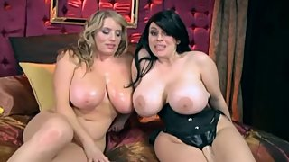 Big titty Daphne Rosen and naturally stacked Maggie Green lesbian sex
