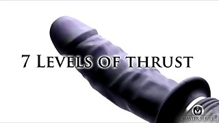 Power Pounder Vibrating And Thrusting Silicone Dildo
