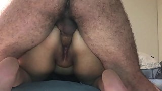 WATCHING MY BBW WIFE FUCK A NERVOUS MAN WHILE HE TRIES NOT TO CUM !