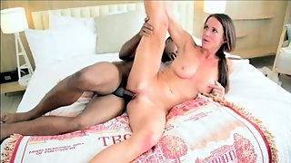 Naughty cheerleader Sofie Marie gets Jack Blaque's big black dick (FULL)