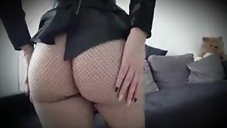Step mom in tight stocking fucked hard by step son without condom