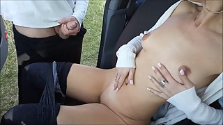 Real wife suck strangers guy cock and swallow cuckold public