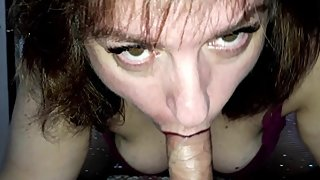 MY BLOWJOB without HANDS, LOOKING IN THE EYES. WARM CUM ON MY HOT PUSSY